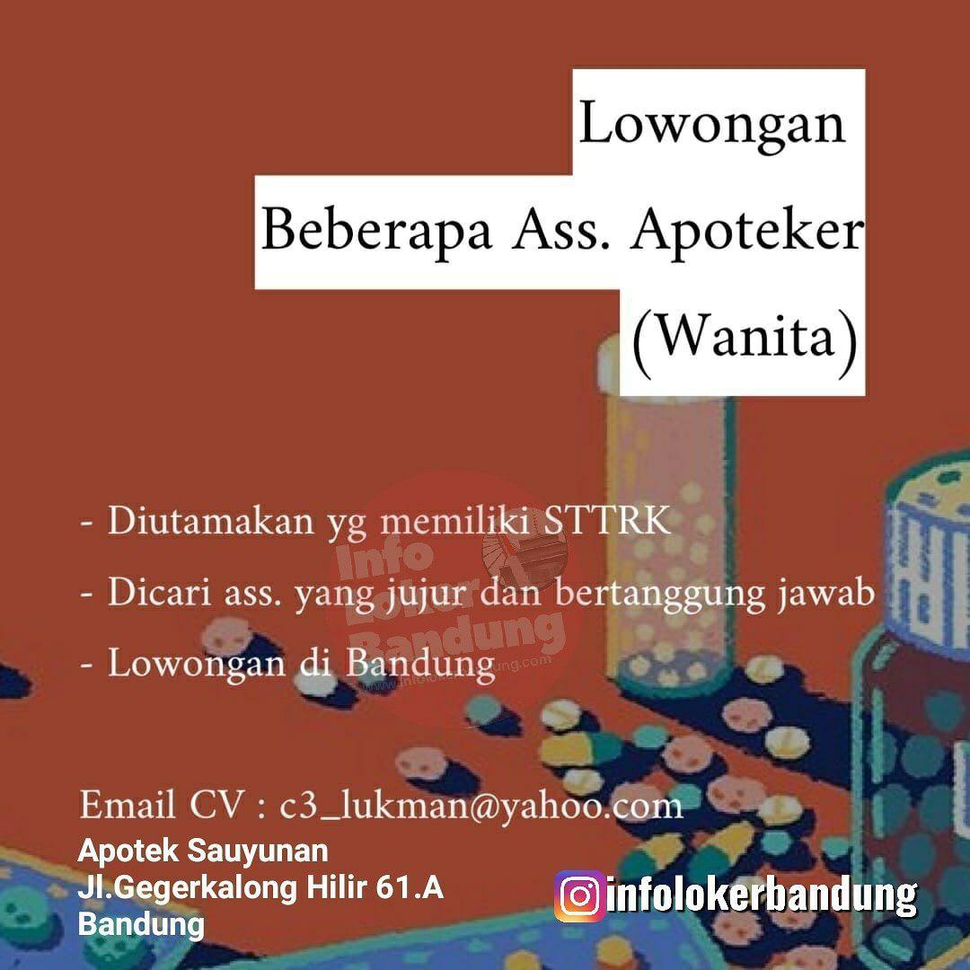 Lowongan Kerja Apotek Sauyunan Bandung April 2019
