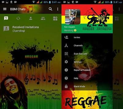 BBM Mod Reggae v3.2.5.12 Apk Clone
