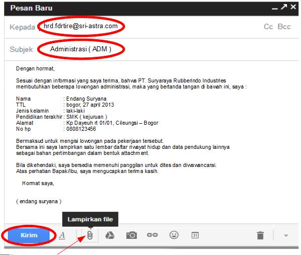 Contoh Mengirim Daftar Riwayat Hidup Via Email - Contoh Top