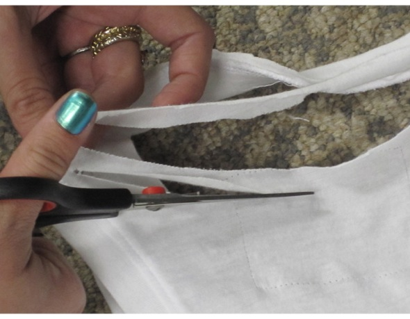 DIY ideia para customizar camiseta regata
