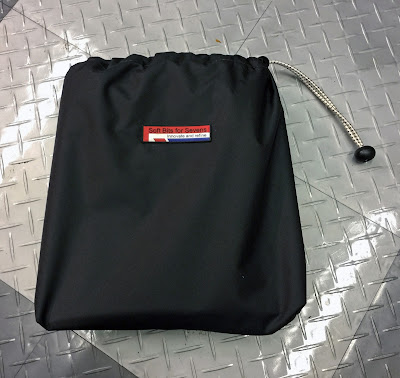 Tonneau packs easily into this supplied bag