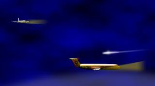 Áudio dos controladores de voos comerciais relatando um OVNI
