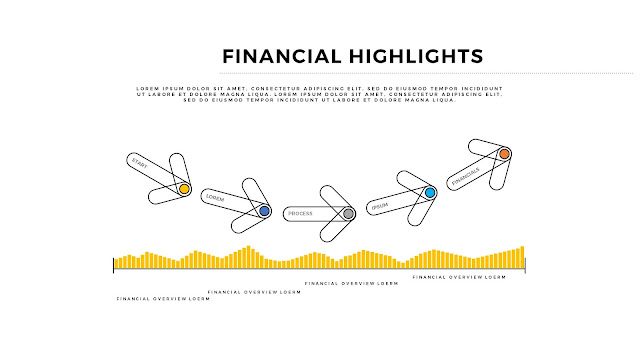 Financial Highlights And Infographic Elements in Free PowerPoint Template Slide 5