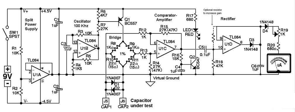 Choirul Electronics: Membuat ESR dengan Ic TL084CN