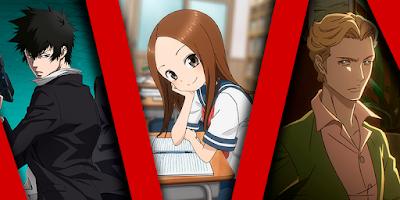 Teasing Master Takagi-san 2 e  Psycho-Pass na Netflix dezembro