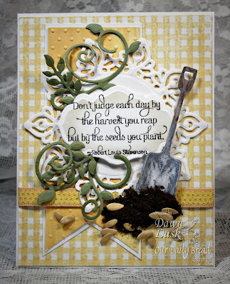 Our Daily Bread Designs, I Dig You, Antique Labels and Designs dies, Fancy Foliage Dies, Dawn Lusk