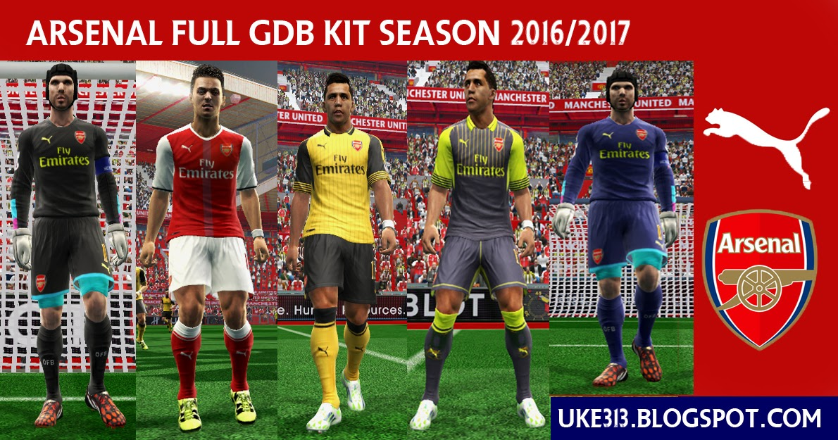dbc72a6c3 PES 2013 ARSENAL FULL GDB KIT SEASON 2016 2017 ~ PES Revolusion