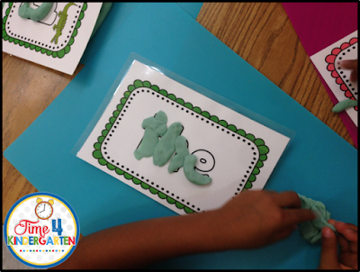 Use play-doh to build sigh words in the writing center