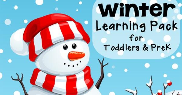 Free Winter Printable Pack for Toddlers & Preschoolers ...