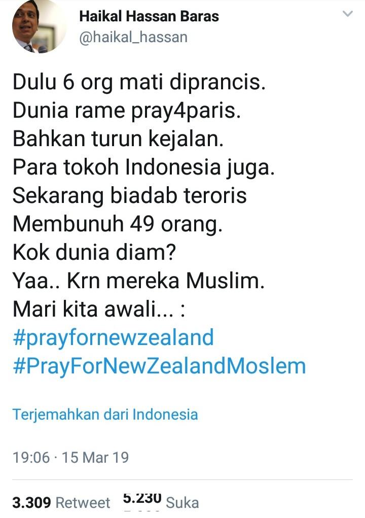 49 Korban Teror Selandia Baru, Ustadz Haikal Hassan Sindir Dunia Internasional
