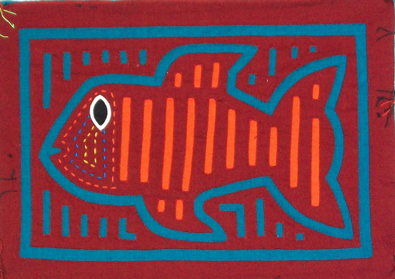 Julie B Booth: More Fish Stories: Doubled Freezer Paper Stencil