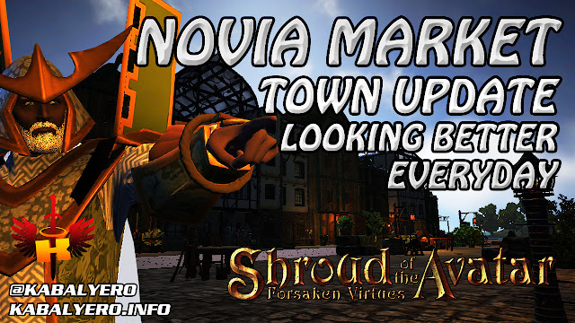 Novia Market Town Update, Looking Better And Better Everyday 🏠 Shroud Of The Avatar (Town Check)