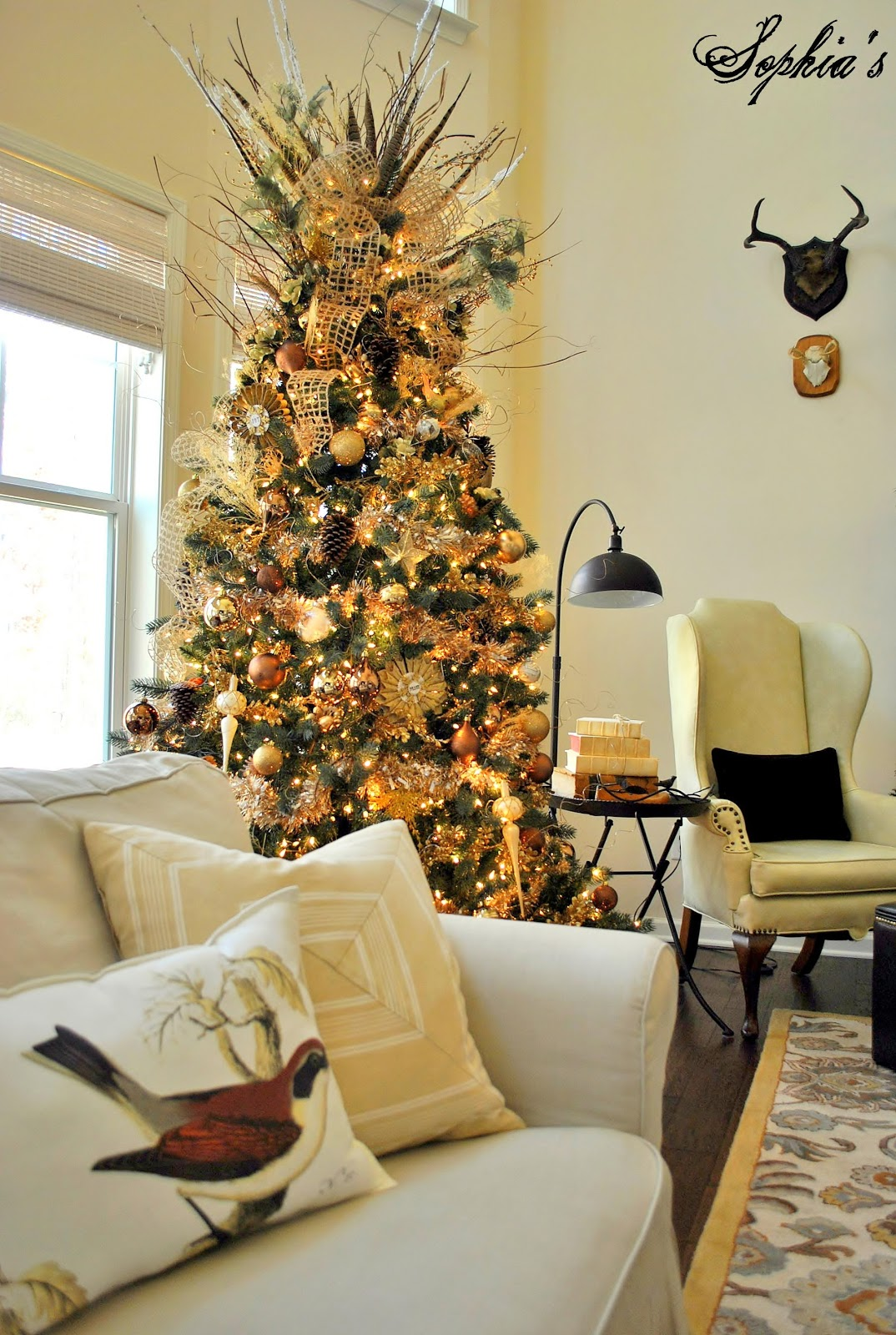 Xmas Decoration Ideas For Living Room: Sophia's: Great Room Rustic Christmas