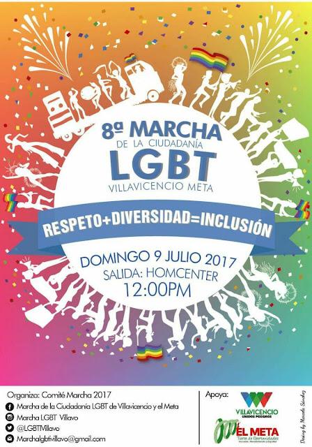 marcha gay orgullo lgbt 2017 lesbianas sexo travesti colombia  villavicencio villavo meta llanos