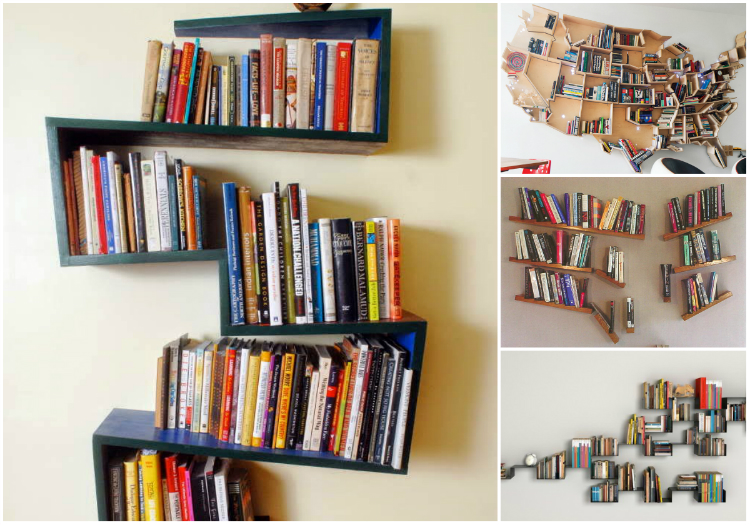 Mademoiselle Loves Books: 5 ideias de prateleiras criativas