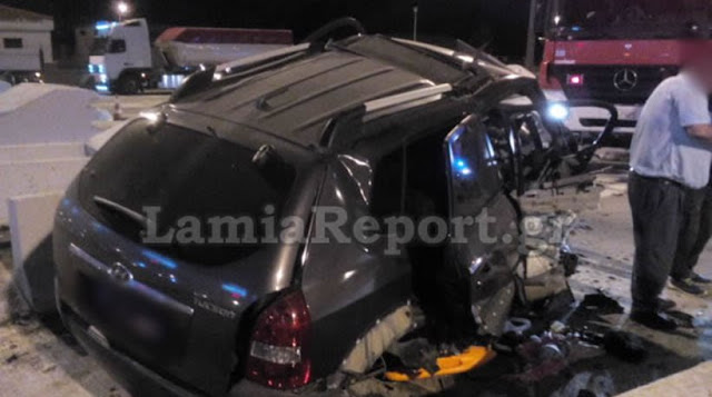 Τρομακτικό τροχαίο δυστύχημα: Αυτοκίνητο καρφώθηκε πάνω στα διόδια