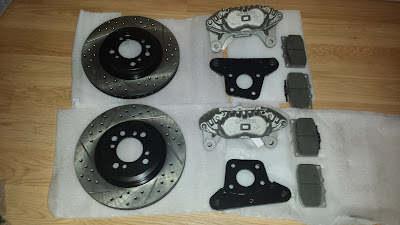 Mini Cooper S drill slotted rotors + RX-7 FC front brake calipers