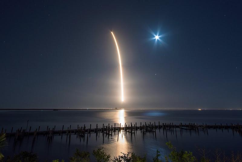 Chuyến bay thứ 50 của Falcon 9 vào thứ tư, ngày 28 tháng 2 năm 2018 vừa qua. Hình ảnh: SpaceX.