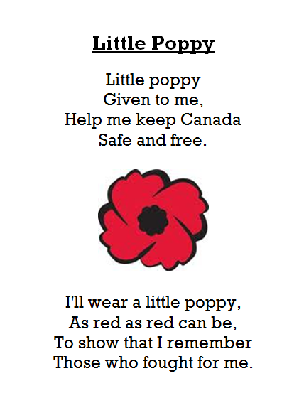 Adventures In Room 111 Spelling Poem 9 Little Poppy