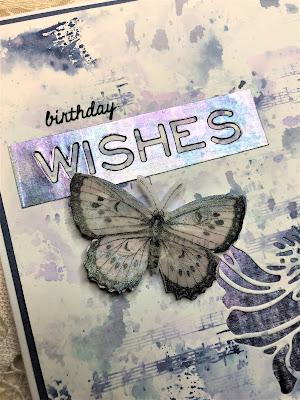 Sara Emily Barker https://sarascloset1.blogspot.com/ Mixed Media Card with Tim Holtz Sizzix Cutout Blossoms 5