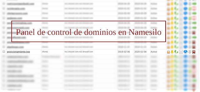 dominio posicionamiento.top en Namesilo