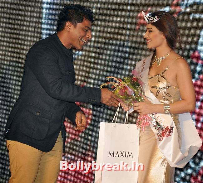 Subi Samuel and 2nd runner up Kangna Sharma, Prachi Desai at Kamasutra Miss Maxim 2014