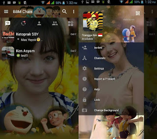 Download BBM Mod Special Change Background With Doraemon Apk Terbaru Maret 2017