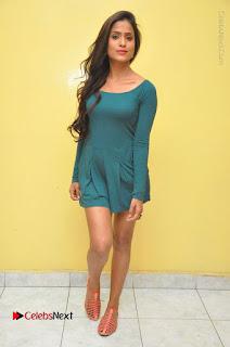 Telugu Actress Prasanthi Stills in Green Short Dress at Swachh Hyderabad Cricket Press Meet  0129.JPG