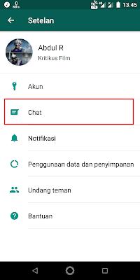 Klik opsi Chat.
