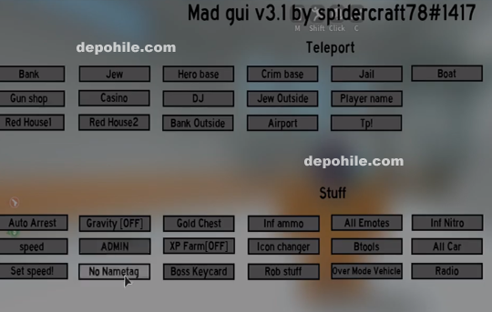 Roblox Mad City Script MADGUI V3.1 Para,Araba Hile Mart 2019