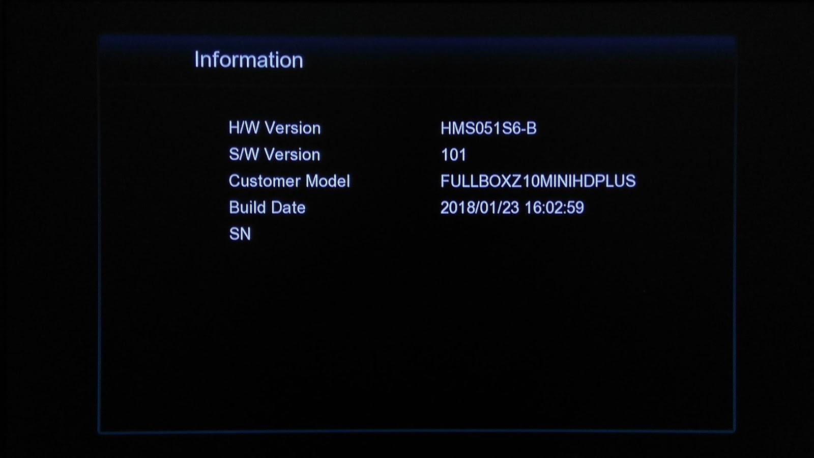 Software Echosat Z10+ New Mini Fullbox HD Plus Firmware