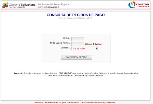 AUTOGESTIÓN RRHH.: CONSULTA DE RECIBOS DE PAGO: SIN TENER QUE COLOCAR LOS DIGITOS DE BANCO. O DIRECTO CON LOS 4 DIGITOS