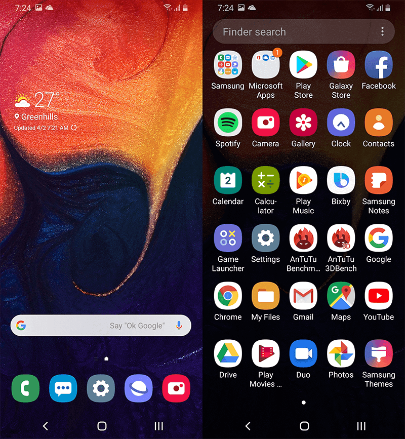 OneUI based on Android 9.0 Pie