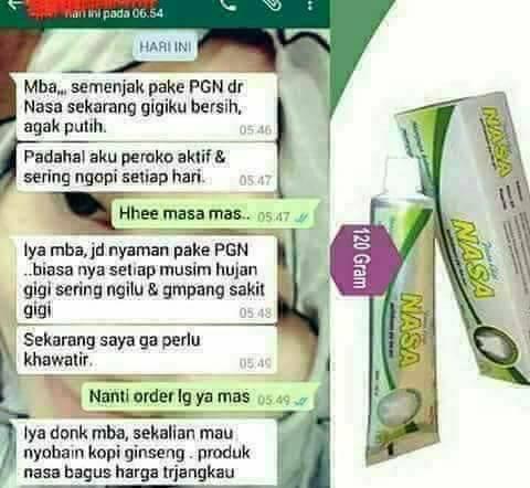 Contok Iklan Pasta Gigi Nasa Di Facebook Distributor Resmi Pt