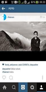 cara ambil foto di instagram hp advan