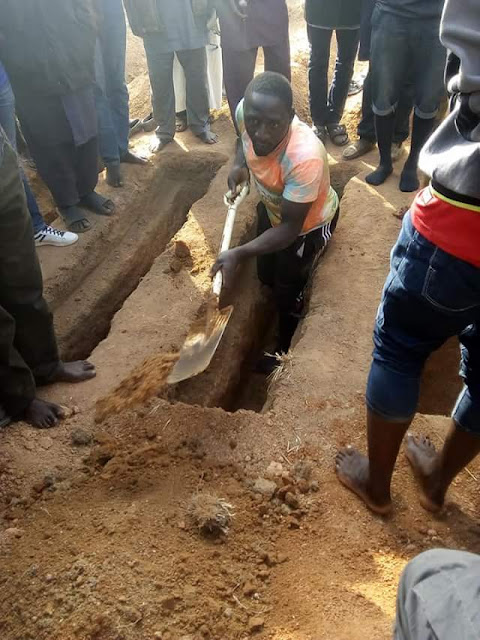 Photos from the burial of couple and their three children burnt to death in Jos house fire