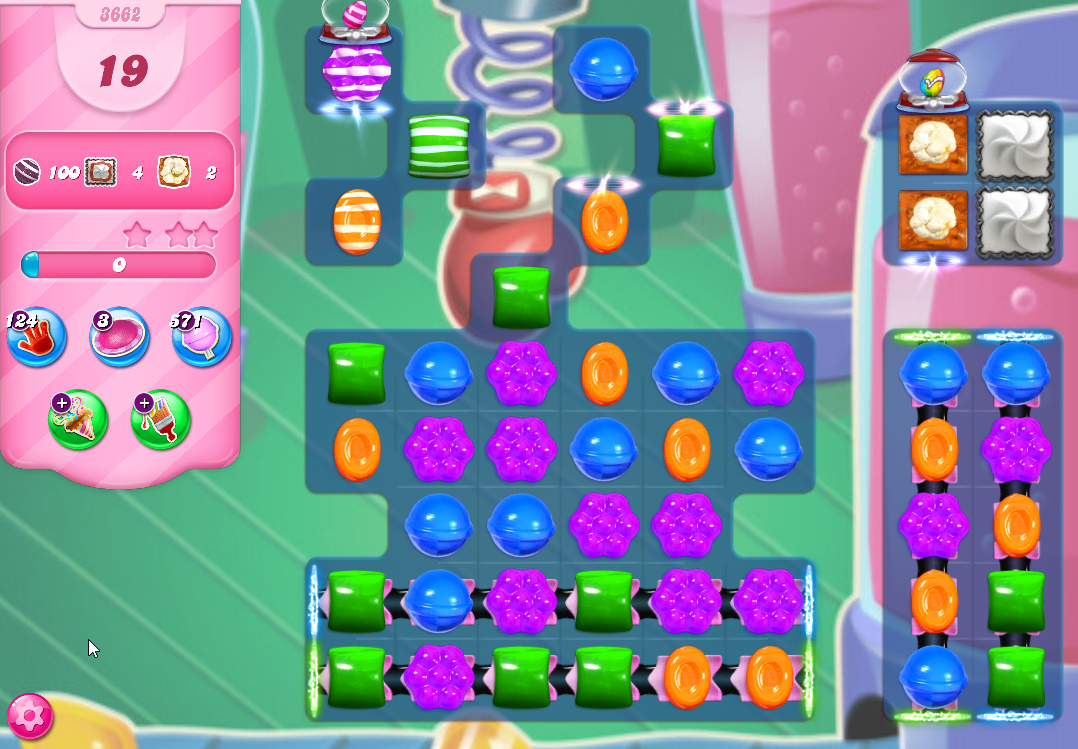 Candy Crush Saga level 3662
