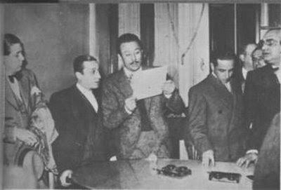 Charlo, Corsini, Julio De Caro, Ernesto Famá y Francisco Lomuto