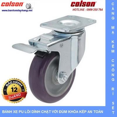Bánh xe đẩy hàng có khóa hãm giá rẻ SP Caster Colson tại Bình Phước www.banhxeday.xyz