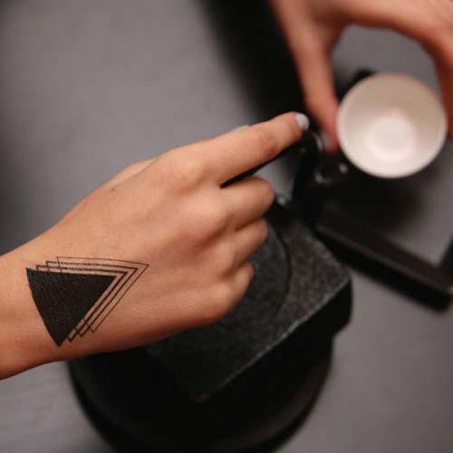 geometrik bilek dövmeleri geometric wrist tattoos 6