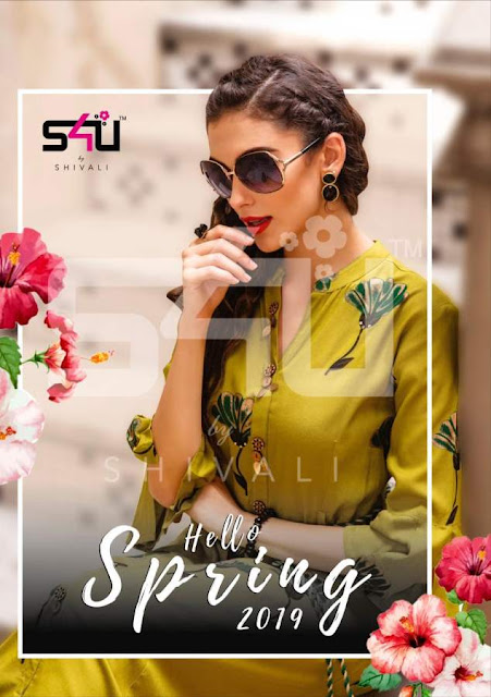 Hello Spring 2019 s4u Party wear Gown kurtis