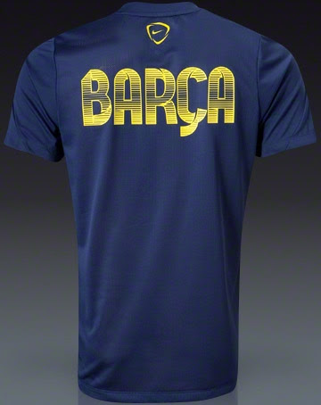 9f0b0dc0f Nike FC Barcelona 13-14 Prematch + Training Shirts - Footy Headlines