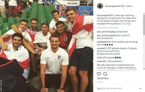 Từ một CĐV của đội tuyển, Maguire giờ đây đã đại diện cho quê nhà tham dự World Cup.