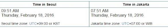 Perbedaan Waktu Indonesia dan Korea Selatan