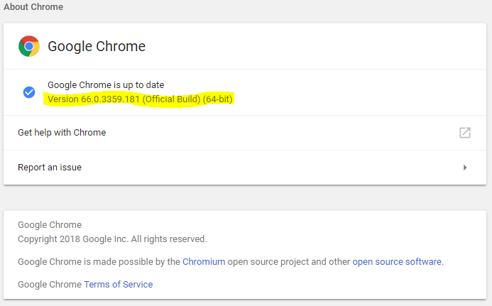 how do i know if i have the latest version of chrome?