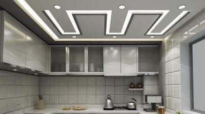 Modern pop false ceiling designs for kitchen interior with lighting pop design for kitchen