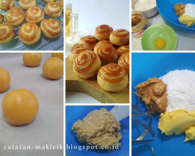 Resep dan cara membuat SKIPPY Karamel Cookies