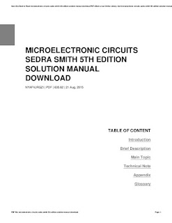 Microelectric circuit sendra smith manual solution