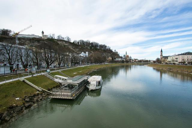 Panorama sul fiume Salzach-Salisburgo