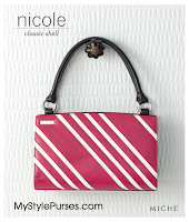 Miche Bag Nicole Classic Shell, Deep Pink Purse